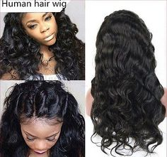 Glueless-100-Brazilian-Virgin-Human-Hair-Body-Wave-Lace-Front-Wig-Full-Lace-Wig