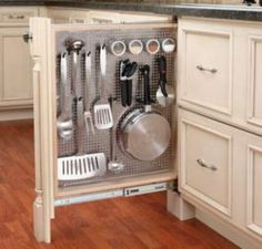 Cool idea for large utensils and frying pans