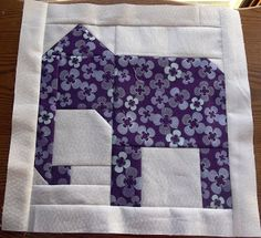 What a sweet elephant quilt block!