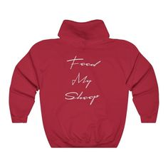 Clothes With Quotes, Feed My Sheep, Framed Canvas Prints, Christian Clothing, Carolina Blue, My Outfit, Hooded Sweatshirts, Hoods, Kids Outfits