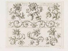 """""""Ornemens et Fleurs pour la Broderie"""" / par Paul Androuet du Cerceau (v.1630-1710) / A Paris chez N. Langlois, 1670-1685 – Londres, Victoria & Albert Museum"""
