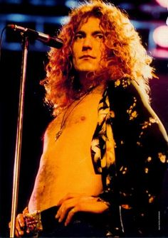Robert Plant's frizz-free curly tendrils should be envied by all. That takes a lot of hard work (as someone who dealt with long frizzy curly hair all through school).