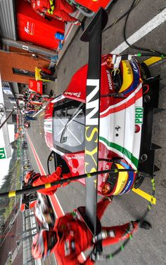 2017/5/6:Twitter:.@FIAWEC #WEC6hSpa Pitstop for both @AFCorse #Ferrari #488GTE now @rigondavide and @Ale_PierGuidi driving