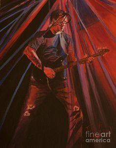 Darrell Mitchell Of Recoil Painting  - Darrell Mitchell Of Recoil Fine Art Print by Tina A Stoffel