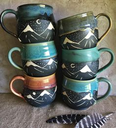 I'll have lots of mountain mugs tomorrow evening as well, in barrel and the classic orb shape!