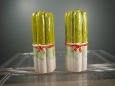 Vintage Ceramic Salt Pepper Shakers Set Large Asparagus Bundles Our Own Import