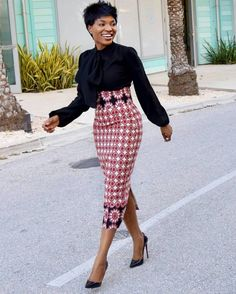 Latest and Trendy African-Inspired Office Wears Outfits For Ladies 2018 ~ AfroFa. - Latest and Trendy African-Inspired Office Wears Outfits For Ladies 2018 ~ AfroFashionStyle - African Dresses For Women, African Print Fashion, African Attire, African Wear, African Fashion Dresses, African Women, African Clothes, Traditional Skirts, African Traditional Dresses