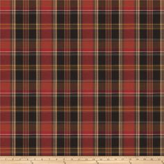 Fabricut Kilt Twill Plaid Auburn from @fabricdotcom  This lovely yarn dyed twill plaid fabric features the characteristic diagonal ribs of twill, with a gorgeous plaid pattern throughout. From your closet, to your home, this fabric is perfect for window treatments (draperies, valences), duvet covers, toss pillows, lighter upholstery projects, and even dresses, skirts, lighter jackets, and more! Fabric features 20,000 double rubs.