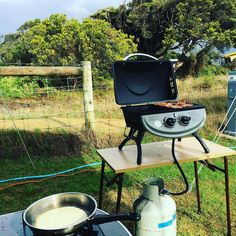 Hello #sundaymorning ... Not a bad way to start the day! #bacon and #pancakes on the #greatoceanroad in #anglesea #victoria #australia #sunday #holidays #notatwork #happysnaps #camping #campinglife #greatoutdoors by denidrmusic
