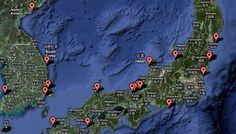 Nuclear Power Plants in N & S Korean + Japan.