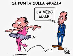 La vignetta di Rolli sul Secolo XIX del 3 agosto 2013.