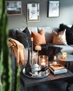Elegant fall-inspired decor