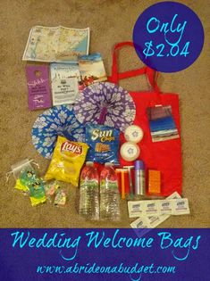 Wedding Welcome Bag Our Complete Bags For Only 2 04 Each A Bride On