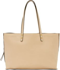 Chloé Beige Leather Dylan Large Tote Bag