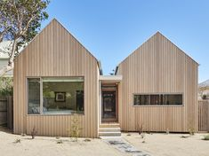 Gallery of Point Lonsdale Residence by Architecture & Design. 💭 'The dynamic gable forms are inspired by the local context of… Gable House, House Roof, Gable Roof, Australian Architecture, Roof Architecture, Roof Design, Exterior Design, House Cladding, Modern Barn House