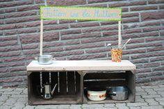 Kindermatschküche für den Garten