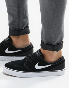 Nike SB Stefan Janoski trainers in black 333824-026 at asos.com 9d2d1aaef17c4