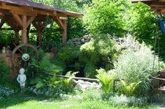 Exterior pensiune : Pensiunea Domnescu Garden Bridge, Exterior, Outdoor Structures, Plants, Plant, Outdoor Rooms, Planets