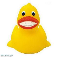 Rubber Duck Toy: Brace Face Duck