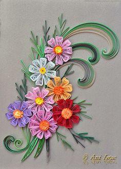 Printre hobby-uri: quilling, kusudama, origami, bijuterii handmade...: Quilling - Cosmos