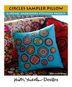 Circles Sampler Crewel Embroidery PDF Instant by kristinnicholas