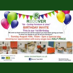 RECOVER First Birthday leaflet