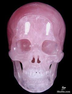 Pink Rose Quartz Rock Crystal Crystal Skull.  Wow Pink!!!