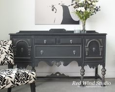 FAT paint...hmmmm...must try it! Ornate Sideboard Raven and Cast Iron