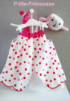 aa0892c78177f Articles similaires à Robe d été bébé enfant fille 12 18 mois tout en  popeline légère de coton motifs coccinelles