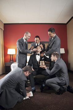Awesome Groomsmen Photos You Cant Miss ❤️ See more: http://www.weddingforward.com/groomsmen-photos/ #weddings