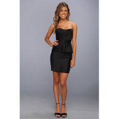 BCBGMAXAZRIA - Karina Strapless Peplum Dress (Black) - Apparel - product - Product Review