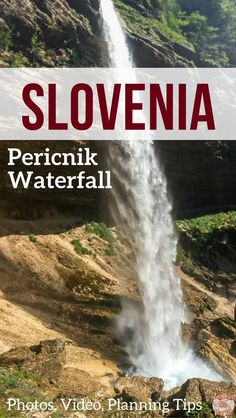 Slovenia Travel Guide - Discover in video and photos the beautiful Slap Pericnik Waterfall where you can walk behind - a half day trip not far from Lake Bled Slovenia Travel, Bled Slovenia, Japan Destinations, Family Vacation Destinations, Europe Travel Tips, Travel Guide, Travel Hacks, Travel Packing, Solo Travel