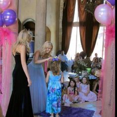 Princess Party whenever a princess walks through the door she gets a crown on her head