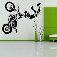 STUNT BIKE MOTORBIKE X GAMES MX MOTORCROSS DIRT BIKE Wall art room sticker decal in Home, Furniture & DIY, Home Decor, Wall Decals & Stickers | eBay