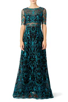 Marchesa Notte Teal Elizabeth Gown (I have unlimited and this bad boy is already at my home, so it's happening!)