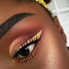 Eye makeup black girl make up super ideas Makeup Goals, Makeup Inspo, Makeup Tips, Edgy Makeup, Unique Makeup, Dramatic Makeup, Makeup Trends, Natural Makeup, Black Girl Makeup