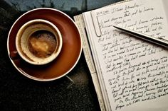 Perfection.    Coffee and a notebook.
