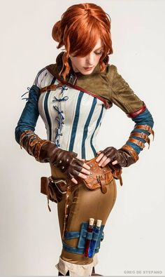 Triss Merigold #cosplay from The Witcher (Cosplayer: Jessica Dru Photo: Greg De Stefano Photography Costume: Manzinat0r)