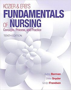 Kozier & Erb's Fundamentals of Nursing (10th Edition) by Audrey T. Berman  ISBN-13: 978-0133974362 ISBN-10: 0133974367