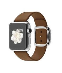 Apple Watch 2015 Stainless Steel 38mm Modern Buckle Brown  http://store.apple.com/xc/product/W_15_W38SS_MBBR