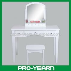 Promotional Modern Dressing Table With Mirror And Stool, Buy ...