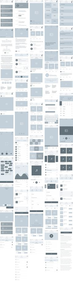 FIELD | Mobile wireframe user experience kit. If you like UX, design, or design thinking, check out theuxblog.com podcast https://itunes.apple.com/us/podcast/ux-blog-user-experience-design/id1127946001?mt=2