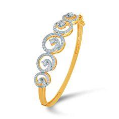 Diamond Bracelet, Gold bracelet, Diamond Bracelet in 18K Yellow gold, Diamond Bracelet with Solitaire diamonds, Solitaire Bracelets. #giftforher #women #gift #jewelery #diamondbracelet #goldbracelet #yellowgold #solitare