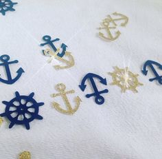 Perfect touch for your Nautical or Beach Theme event. Sprinkle it on the tables, or perfect to attach them to your guests gift favors. Anchors and wheel