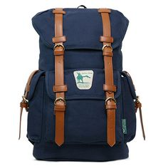 Laptop backpacks for men Canvas College bag Yellowstone 1001