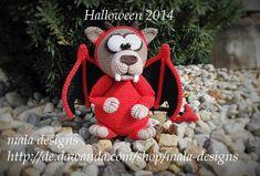 Crochet - lobo feroz, halloween patrón pdf ganchillo - una pieza de diseño de Mala diseña en DaWanda