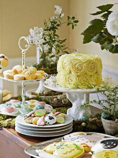 easter dessert TABLE | Beautiful Easter dessert table!