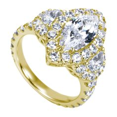 Celebrity Engagement Ring Photo Marquise Cut 45