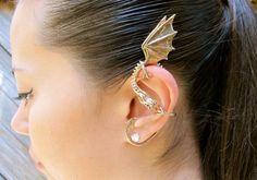 Dragon Ear Wrap Bronze  Dragon Ear Cuff  Elfin por martymagic