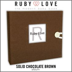 Baby Book . Baby Memory Book . SOLID CHOCOLATE by rubylovedesigns